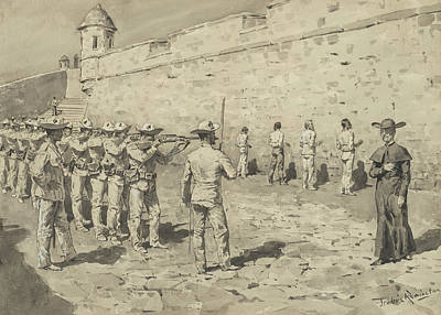 The Cuban Martyrdom Print by Frederic Remington