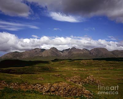 Glen Brittle Photograph - The Cuillin Main Ridge   Sron Na Ciche Sgurr Alasdair And Sgurr Nan Eag From   Rubh An Dunain Skye by Michael Walters