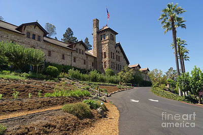 Napa Valley And Vineyards Photograph - The Culinary Institute Of America Greystone St Helena Napa California Dsc1694 by Wingsdomain Art and Photography