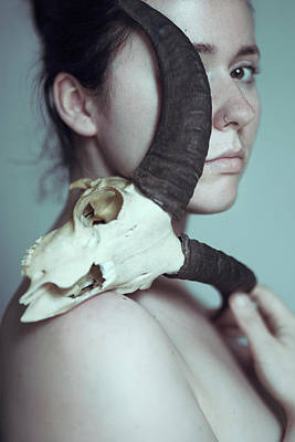 Skull Photograph - The Cult Of Black Philip by Joanna Jankowska