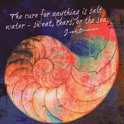 The Cure For Anything Isak Dinesen V1 Print by Brandi Fitzgerald