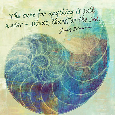 The Cure For Anything Isak Dinesen V2 Print by Brandi Fitzgerald