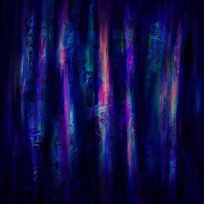 Spooky Digital Art - The Curtain by Rachel Christine Nowicki