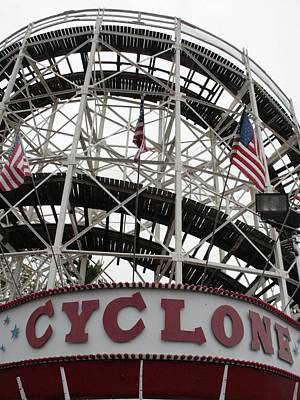 Rollercoaster Photograph - The Cyclone At Coney Island by Christopher Kirby