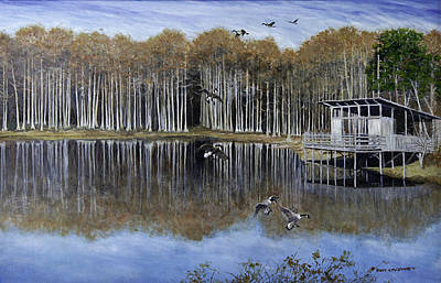 Painting - The Cypress Pond  by Betty McGlamery