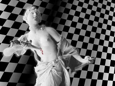 Woman Photograph - The Dagger And The Checkerboard by Vincent Marguerit
