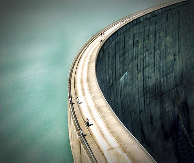 Construction Photograph - The Dam ... by Anna Cseresnjes