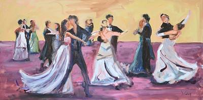 Dance Floor Painting - The Dance by Donna Tuten