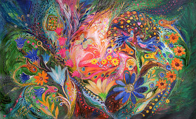 The Dance Of Flowers Print by Elena Kotliarker