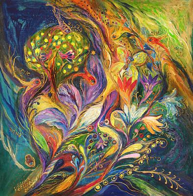 The Dance Of Lilies Print by Elena Kotliarker