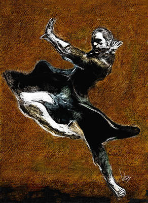 Ballet Painting - The Dancer by Vya Artist