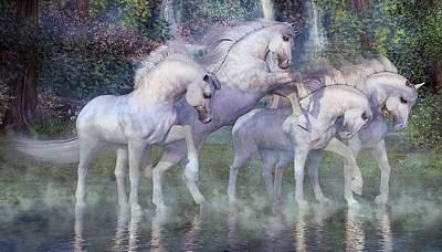 Stallion Digital Art - The Dapples Of Vienna by Betsy Knapp