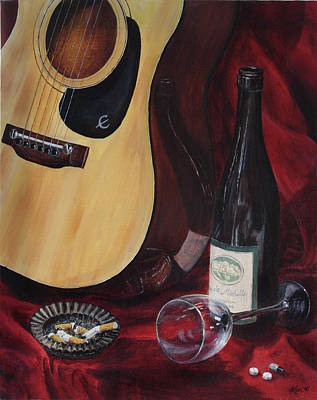 Depression Painting - The Dark Times by Kim Lockman