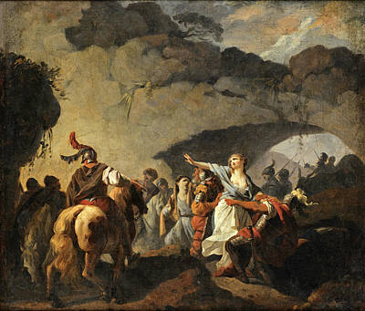 Painting - The Daughter Of Ariovistus Made Prisoner By Caesar During The Germans' Defeat by Francois-Andre Vincent