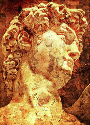 The David By Michelangelo Print by Jose Espinoza