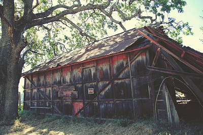 Old Barns Photograph - The Day Things Fell Apart by Laurie Search