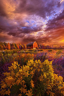 Heaven Photograph - The Days Are Seldom Long by Phil Koch