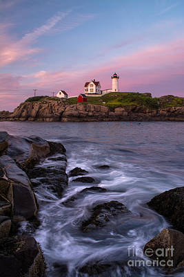 Nubble Lighthouse Photograph - The Days End by Scott Thorp
