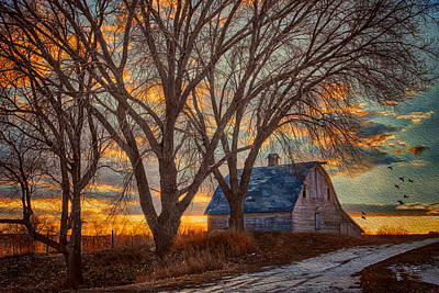Old Country Roads Photograph - The Day's Last Kiss by Nikolyn McDonald