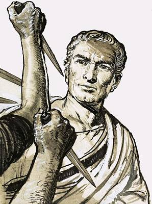 The Death Of Caesar Print by English School