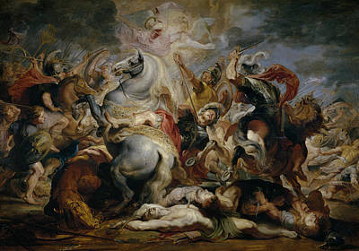 The Death Of Decius Mus Print by Peter Paul Rubens