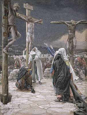 Crucifixion Painting - The Death Of Jesus by Tissot