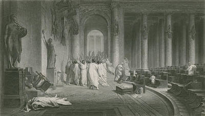 The Death Of Julius Caesar Print by Jean Leon Gerome