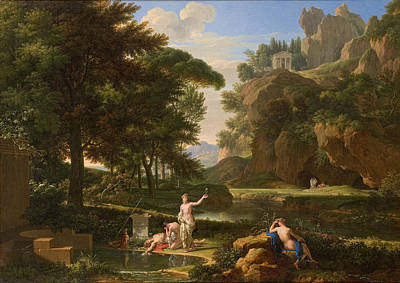 Francois Xavier Fabre Painting - The Death Of Narcissus by Francois-Xavier Fabre