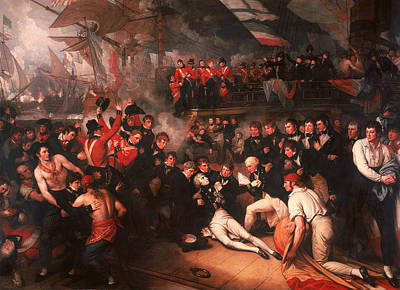 U.s. Navy Painting - The Death Of Nelson by Benjamin West