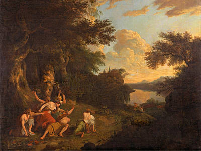 Orpheus Painting - The Death Of Orpheus by Thomas Jones