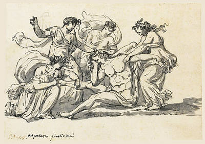 Drawing - The Death Of Pentheus by Jacques-Louis David