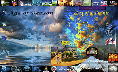 Conspiracy Digital Art - The Death Of Reason - How The Wizard Won by Steve Harrington