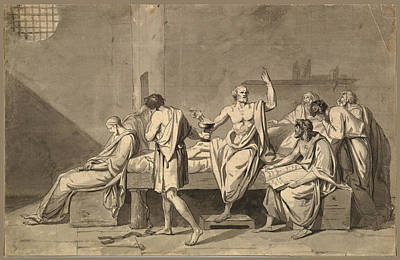 Drawing - The Death Of Socrates 2 by Jacques-Louis David