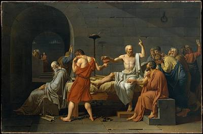 David Jacques Louis 1748-1825 Painting - The Death Of Socrates by Jacques Louis