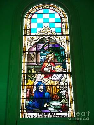 The Death Of St. Joseph In Stain Glass Print by Seaux-N-Seau Soileau