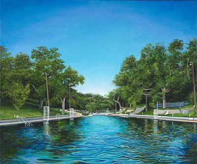 The Deep End Barton Springs Pool Original by Ricardo Calzadilla