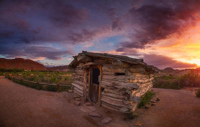 Old Cabins Photograph - The Delicate Little Cabin by Darren  White