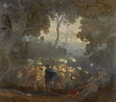 Greek Mythology Painting - The Dell Of Comus by Francis Oliver Finch