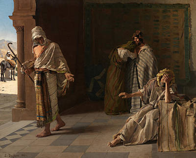 Prodigal Painting - The Departure Of The Prodigal Son by Edouard de Jans