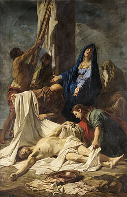 Painting - The Deposition From The Cross by Jean-Baptiste Jouvenet and Workshop