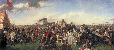 Day Painting - The Derby Day  by William Powell