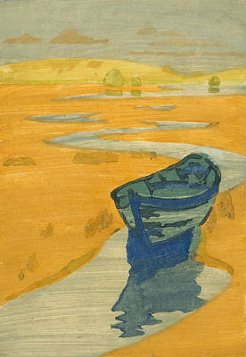 The Derelict. The Lost Boat Print by Arthur Wesley Dow