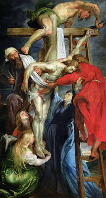 St Mary Magdalene Painting - The Descent From The Cross by Rubens