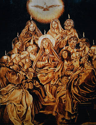 Custom Reproductions Pyrography - The Descent Of The Holy Spirit by Dino Muradian