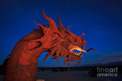 The Desert Serpent Under A Starry Night Print by Sam Antonio Photography