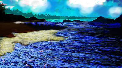 The Deserted Beach  Print by Paul Sutcliffe