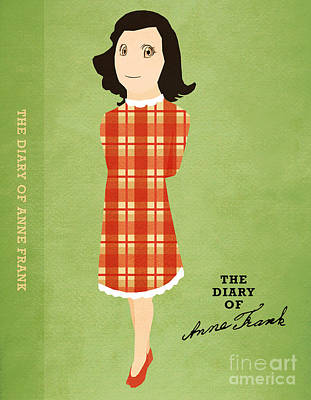 Book Jacket Drawing - The Diary Of Anne Frank Book Cover Movie Poster Art 4 by Nishanth Gopinathan