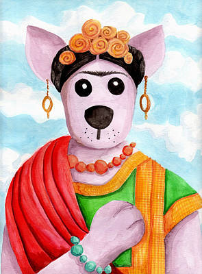 The Dingo Pays Homage To Frida Print by Yvonne Lozano