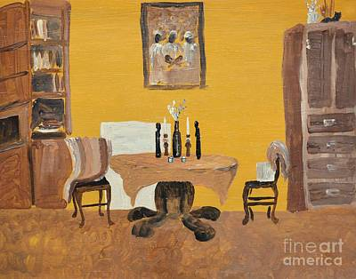 The Dining Room - Yellow Original by Reb Frost