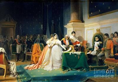 The Divorce Of Empress Josephine Print by Freedeic Henri
